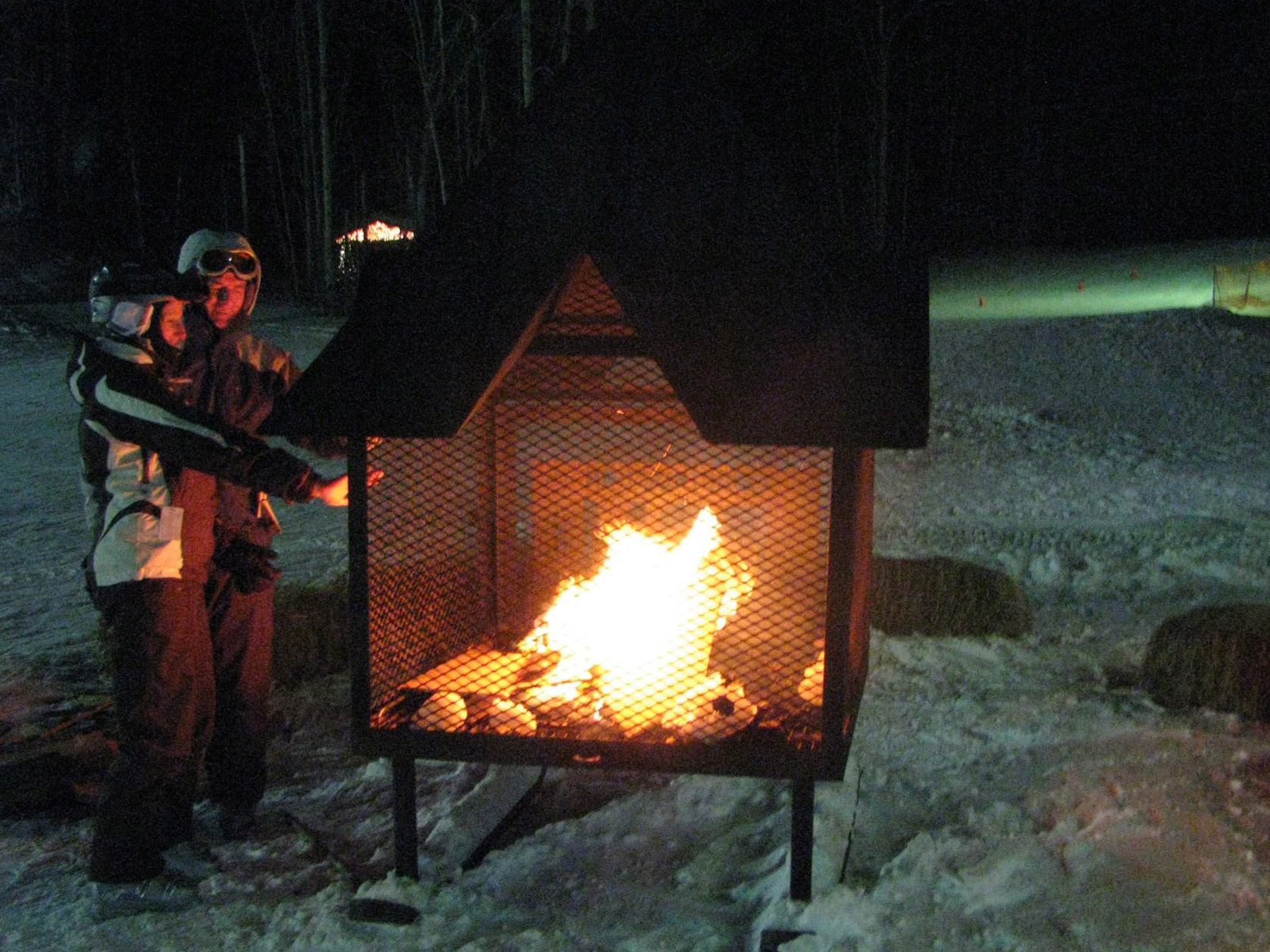 Feu extérieur soirée - Après-ski